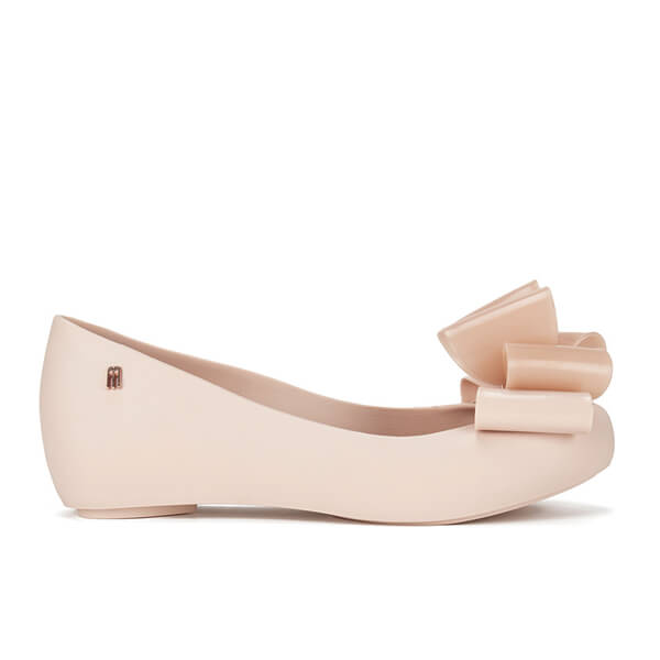 Melissa Women's Ultragirl Twin Bow Ballet Flats - Blush