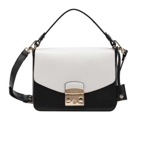 21e14b3052b31 Furla Women s Metropolis Shoulder Bag - Black White  Image 1