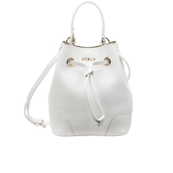 Furla Women s Stacy Mini Drawstring Bucket Bag - White  Image 1