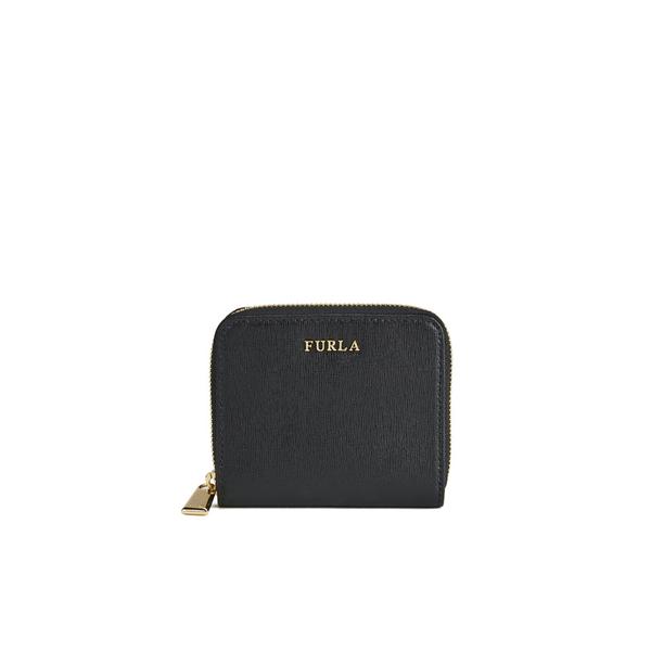 Furla Women s Babylon Small Zip Around Wallet - Black  Image 1 64f93b386