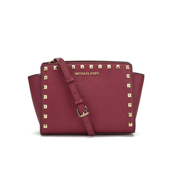 MICHAEL MICHAEL KORS Women's Selma Stud Crossbody Bag - Cherry