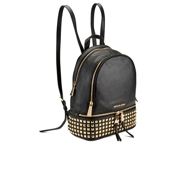 1f18a23e80b557 MICHAEL MICHAEL KORS Women's Rhea Zip Studded Backpack - Black: Image 4