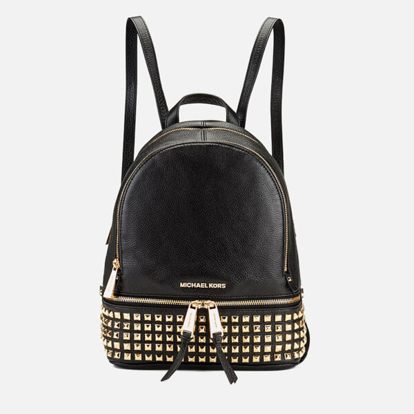 664ca7098283 MICHAEL MICHAEL KORS Women s Rhea Zip Studded Backpack - Black  Image 1