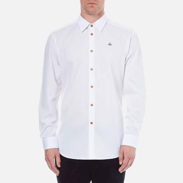 Vivienne Westwood MAN Men's Stretch Poplin Classic Cut Away Shirt - White