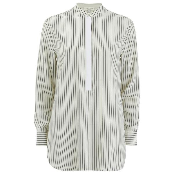 rag & bone Women's Virginia Shirt - Black/White Stripe