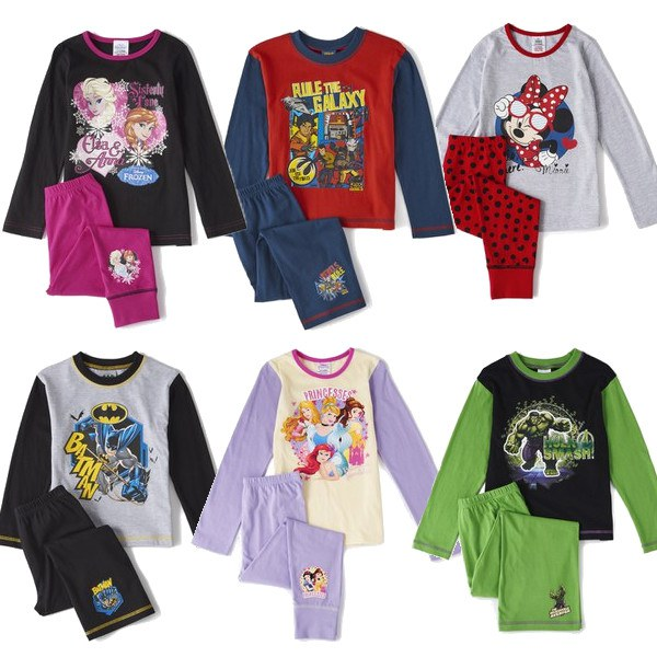 Boys & Girls Character Pyjamas - 16 Options - Age 4 to 10