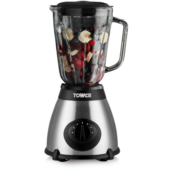 Tower T12008 Glass Blender - Stainless Steel - 500W