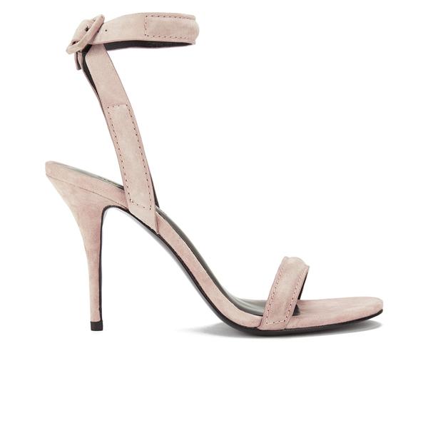 Alexander Wang Women's Antonia Suede Heeled Sandals - Blush