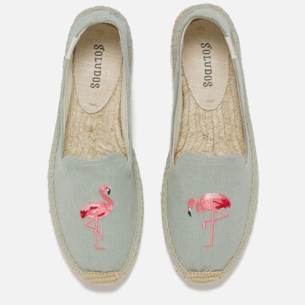Soludos Women's Espadrille Smoking Slippers - Flamingo Chambray