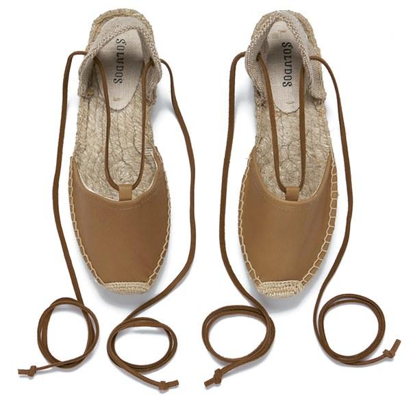ec5da2760a67 Soludos Women s Leather Platform Espadrille Gladiator Sandals - Tan  Image 2