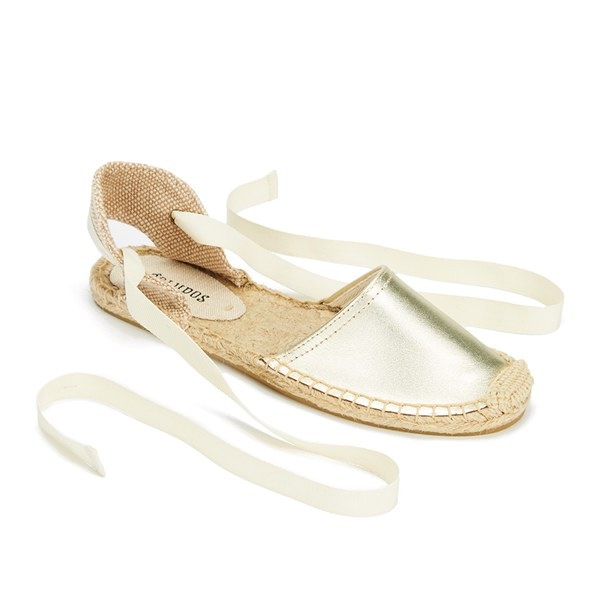 1c51ddc5b67df Soludos Women s Classic Leather Espadrille Sandals - Metallic Platinum   Image 5