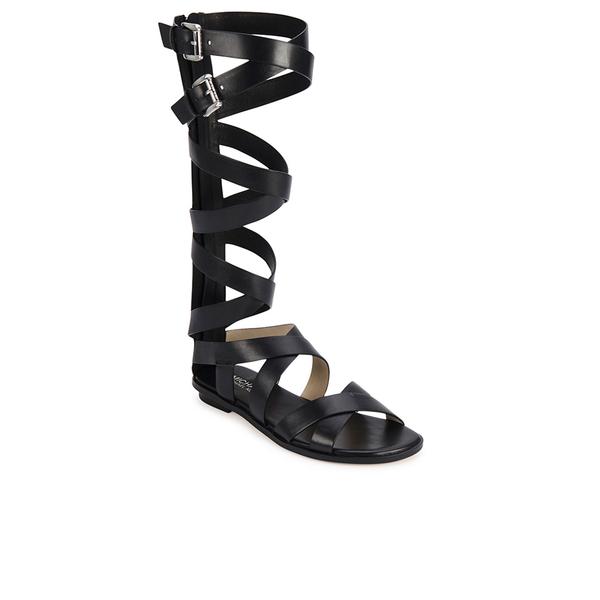 2712d8fc0349 MICHAEL MICHAEL KORS Women s Darby Vachetta Knee High Gladiator Sandals -  Black  Image 4