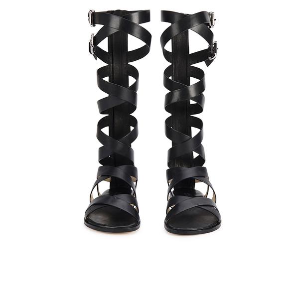 c24895322a34 MICHAEL MICHAEL KORS Women s Darby Vachetta Knee High Gladiator Sandals -  Black  Image 3