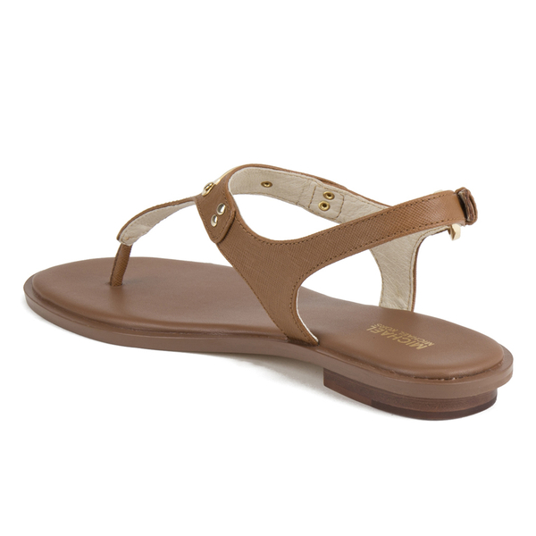6a4a66a0f23 MICHAEL MICHAEL KORS Women s MK Plate Thong Flat Sandals - Luggage  Image 6