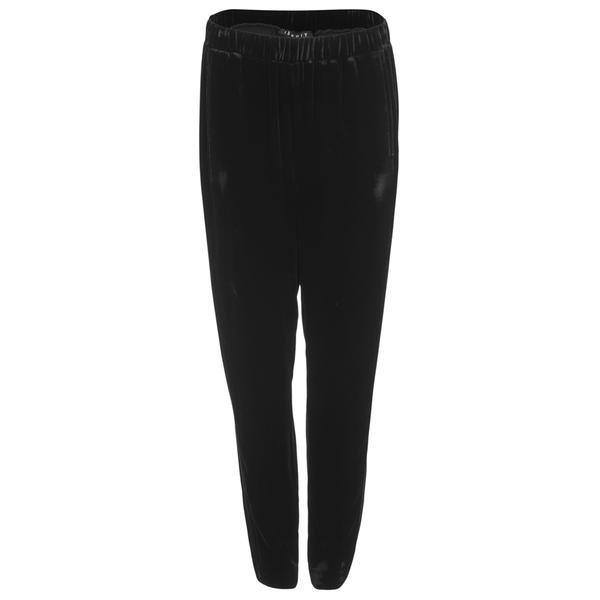 Theory Women's Thorene Velvet Trousers - Black
