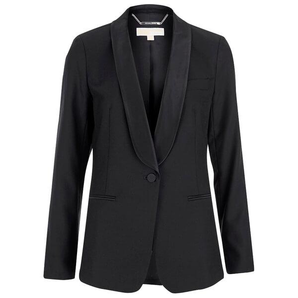 MICHAEL MICHAEL KORS Women s Shawl Collar Tux Blazer - Black - Free ... b94fe3ad8