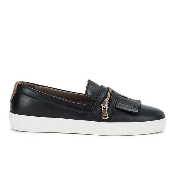 Hudson London Women's Beata Tassle Leather Slip On Trainers - Black