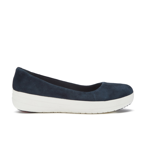 b5948cef7676 FitFlop Women s F-Sporty Suede Ballerina Pumps - Supernavy Clothing ...
