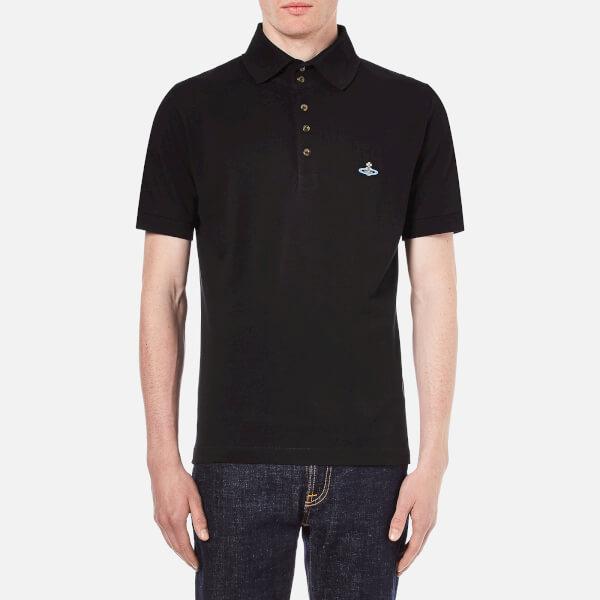 Vivienne Westwood MAN Men's Basic Pique Polo Shirt - Black