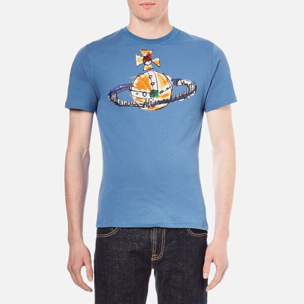 Vivienne Westwood MAN Men's Orb Logo T-Shirt - Blue Green