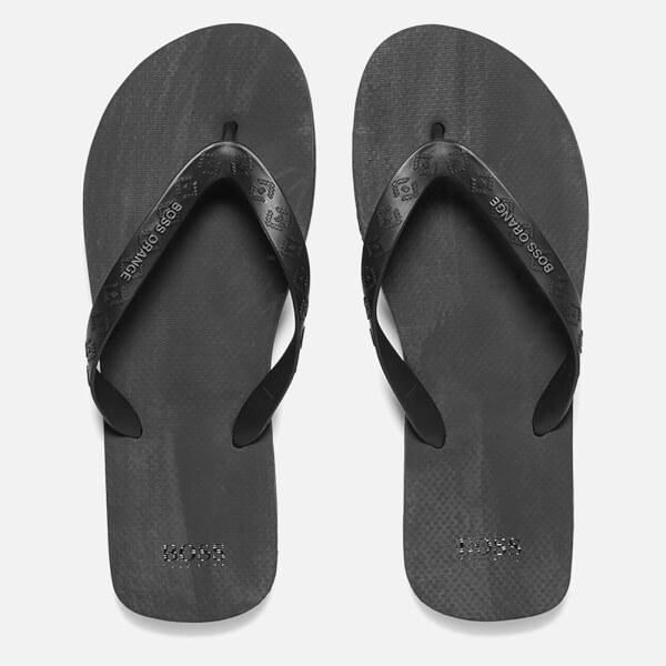 BOSS Orange Men's Loy Flip Flops - Black