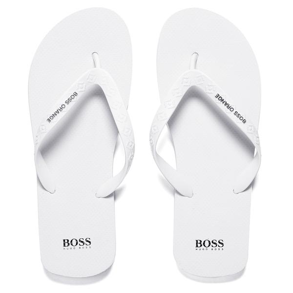 BOSS Orange Men's Loy Flip Flops - White