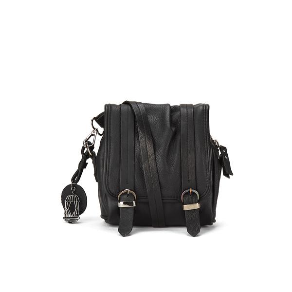 BeckSöndergaard Women's Mini Seki Leather Crossbody Bag - Black