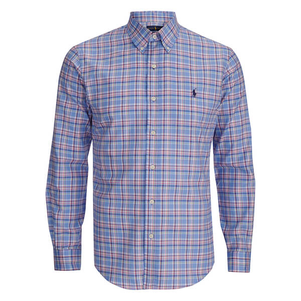 Polo Ralph Lauren Men's Checked Button Down Shirt - Blue/Orange