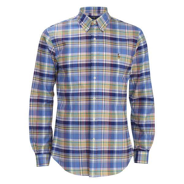 Polo Ralph Lauren Men's Checked Button Down Shirt - Blue