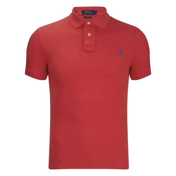 Polo Ralph Lauren Men's Short Sleeve Slim Fit Polo Shirt - Bright Hibiscus