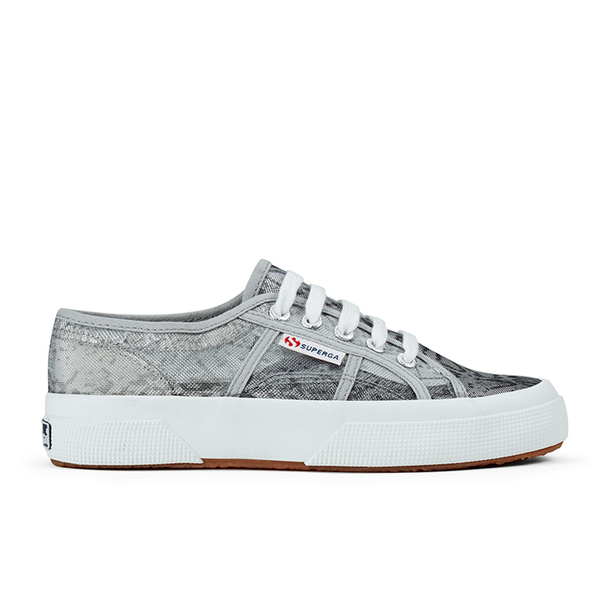 Superga Women's 2750 Animalnetw Classic Trainers - Snake Silver