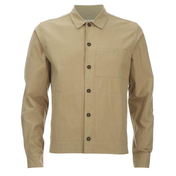 Universal Works Men's Slub Japanese Cotton Uniform Shirt - Camel