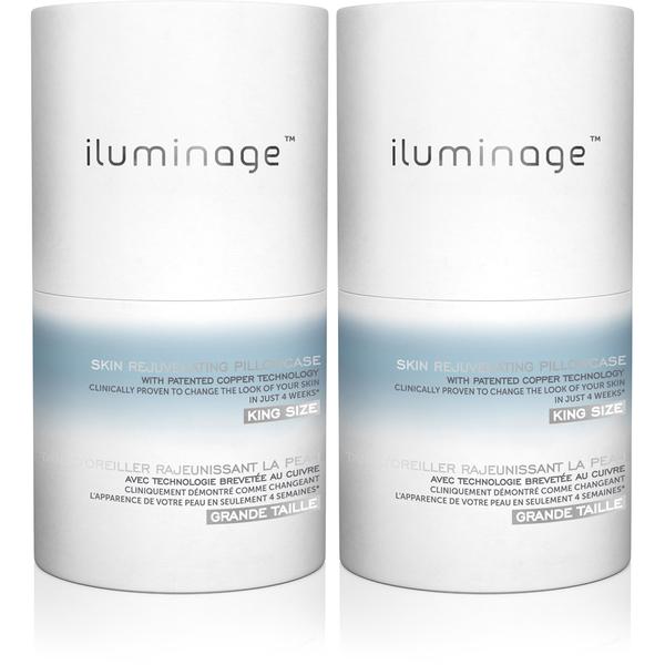 Iluminage Pillowcase - King Size (Twin Pack) (Worth £100.00)