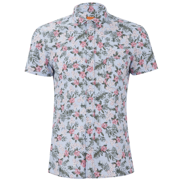 BOSS Orange Men's Ezippoe1 Floral Short Sleeve Shirt - Multi