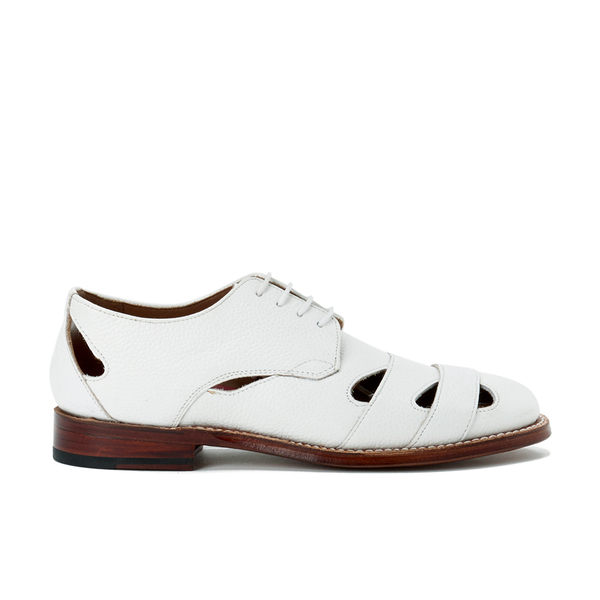 Grenson Women's Wilma Grain Leather Flats - White