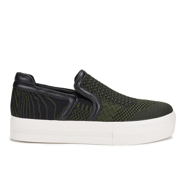 Ash Women's Jeday Knit Slip-on Trainers - Army/Black