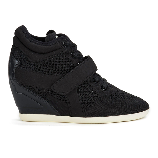 Ash Women's Bebop Knit Wedged Trainers - Black/Black