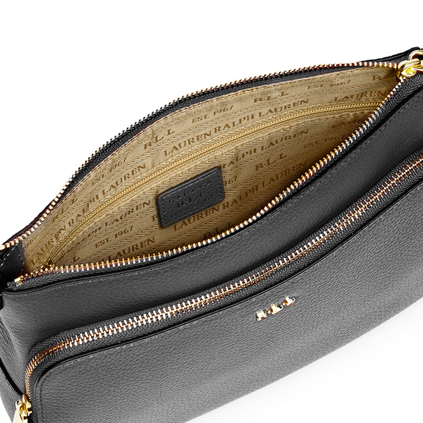 Lauren Ralph Lauren Women\u0027s Harrington Cross Body Bag - Black: Image 4