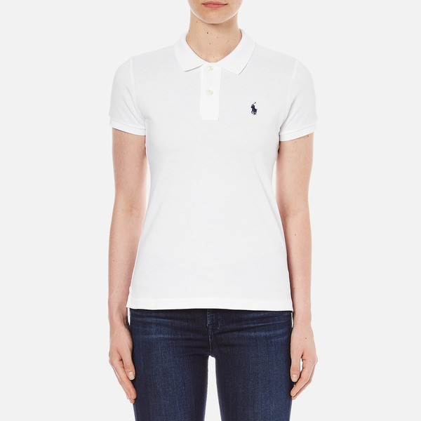 78a36e069290 Polo Ralph Lauren Women s Skinny Fit Polo Shirt - White - Free UK ...