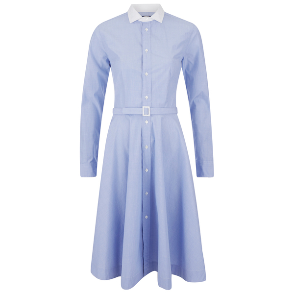 Polo Ralph Lauren Women\u0027s Dori Shirt Dress - Blue/White: Image 1