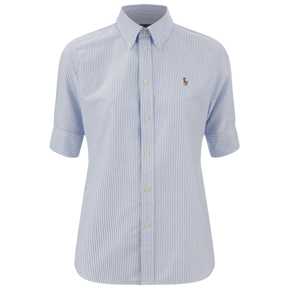 Polo Ralph Lauren Women's Jenny Shirt - Blue/White: Image 1