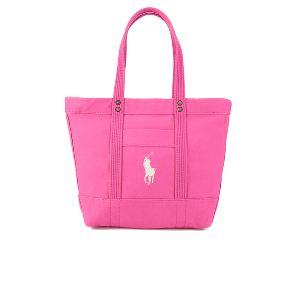 Polo Ralph Lauren Women's Canvas Tote Bag - College Pink: Image 1