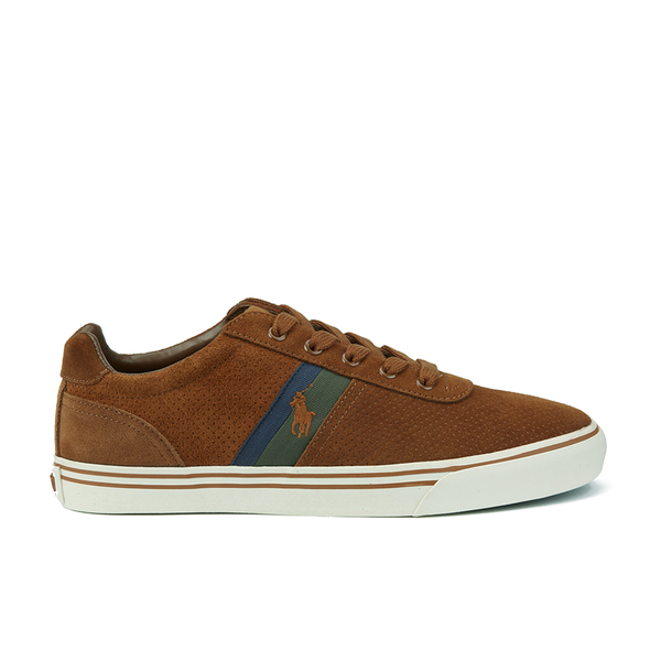 95a300841b1 Polo Ralph Lauren Men s Hanford II Perforated Suede Trainers - New Snuff   Image 1