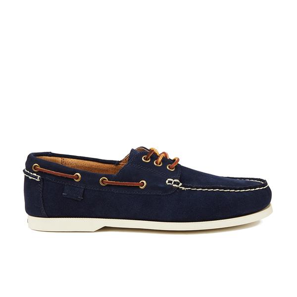 Polo Ralph Lauren Men's Bienne II Suede Boat Shoes - Newport Navy