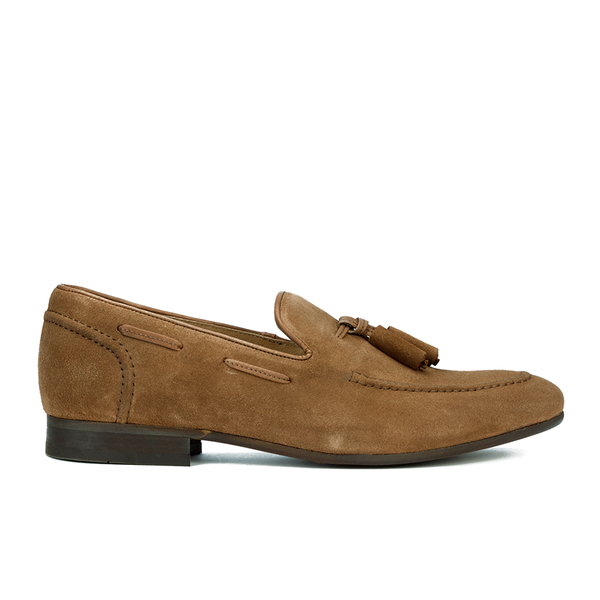 H Shoes By Hudson Mens Pierre Suede Tassel Loafers Tan