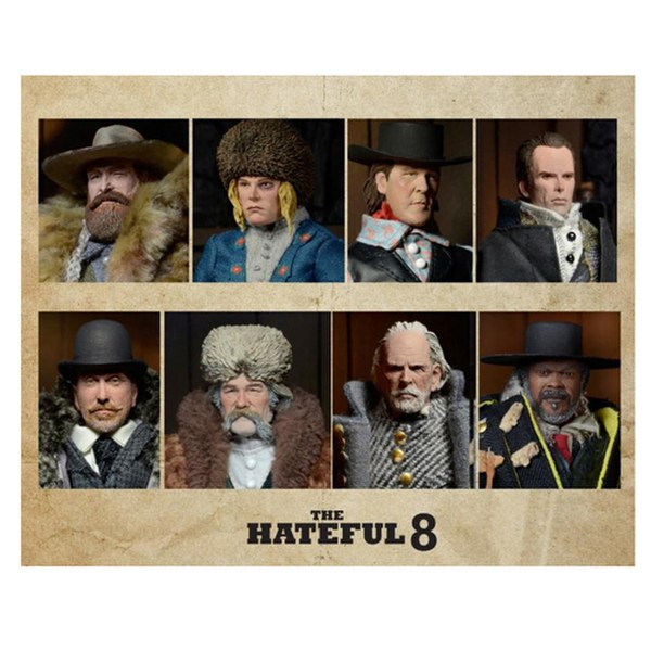 NECA The Hateful Eight Bob 8 Inch Clothed Action Figure