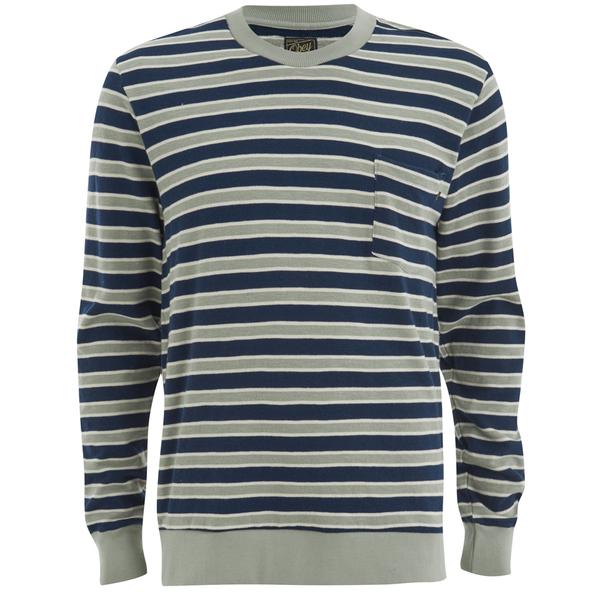 OBEY Clothing Men's Cypress Park Crew Sweatshirt - Navy/Green