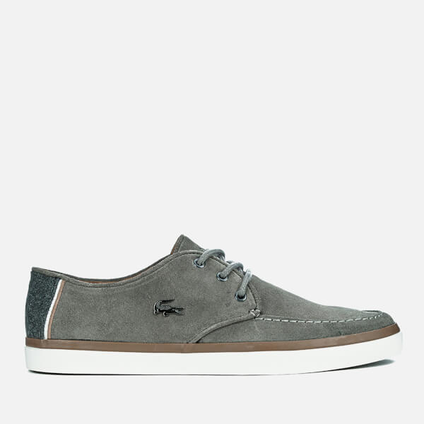 Lacoste Men's Sevrin 2 LCR Suede Deck Shoes - Grey