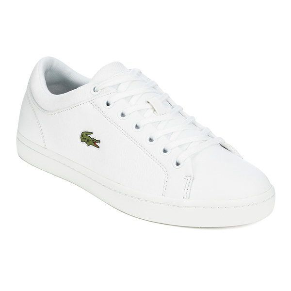 Lacoste Men's Straightset SPT 116 1 Leather Trainers - White: Image 4