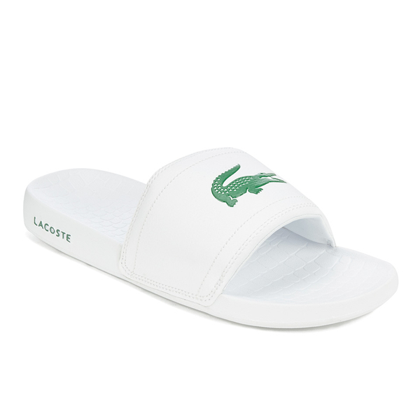 a3182ff01373 Lacoste Men s Frasier Slide Sandals - White Green  Image 3